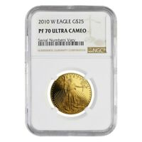 2010 W 1/2 oz $25 Proof Gold American Eagle NGC PF 70 UCAM