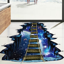 3D Cosmic Space Wall Sticker Home Decoration for Kids Room Floor Wall Decal p3fC