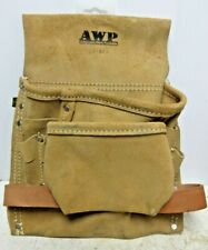 AWP 8-Pocket Construction/Nail/Tool Bag/Pouch/Belt/Holder/Pocket-Split Leather