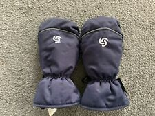 Thinsulate Kids Size Medium Navy Blue Mittens