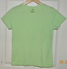 GIORDANO MY TEE Mint Green Cotton Stretch FITTED Shirt Top* L Large