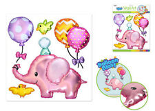 Balloon Blasts BABY PINK ELEPHANT wall stickers 5 big 3D pop-up decals balloons