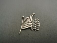 New listing Vintage Sterling Silver *Flag Of U.S.A. Pendant Charm* #En1271