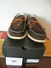 UGG Australia Men's Brown Beach Moc Slip-on Leather Boots Size 10.5 Authentic