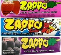 Zappo Chews x 18 Assorted Flavours 26g Candy Buffet Party Favors Bulk Lollies