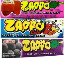 20 x Zappo Chews Assorted Flavours 26g Candy Buffet Sweets Favors Bulk Lollies