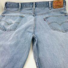 Levis 550 Size 40X30 Straight Leg Light  Denim Wash Jeans Mens