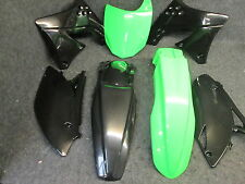 Kawasaki KXF250 2009-2012 New X-Fun complete black/green plastics kit PK3007