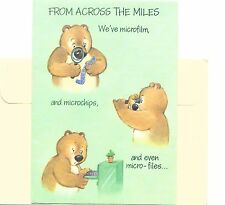 Buzza Brown Bear Happy Birthday - Across The Miles - Gibson Greeting Card