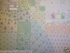 "6"" x 6"" 16 sheet sample pack IT'S A GIRL baby card making scrapbook craft paper"
