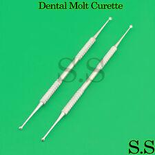 Dental Molt Curette Surgical Curettage Cyst Removal 2 Pcs Instrument