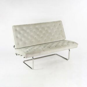 1980s Marcel Breuer for Tecta Gray Suede F40 Settee / Sofa Made in Germany