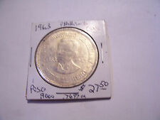 1963  1 PESO SILVER DOLLAR COIN PHILIPPINES USA NATIONAL HERO