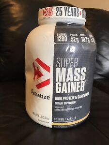 Dymatize Super Mass Gainer Gourmet Vanilla 6 Lbs. Protein Muscle Fitness BNIB!!
