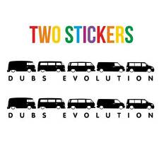 2 X Dubs Evolution Stickers Camper Van Vinyl Decal Sticker Many Colours