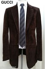 GUCCI suede leather jacket blazer sport coat suit tom ford dark brown nr L 52 42