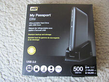WD My Passport Elite 500GB USB 2.0 Portable External Hard Drive with USB Dock