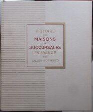 Histoire des maisons a succursales en France 3 volumes 1936 par G Normand