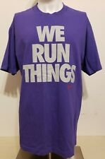 NIKE RUNNING T-Shirt Size Large WE RUN THINGS Full Front LOGO Purple