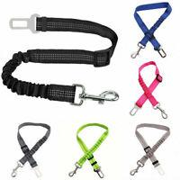 Safety Elastic Dog Car Seat Belt Pet Reflective Security Harness Seatbelt Leash