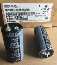 10 unidades Elko Panasonic 4700uf 63v 22x50 rm10 85 ° SNAP-en 19,00 euros