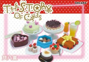 ORCARA Dollhouse Miniature Ths storys of Cake Shop Re-ment Size Full set