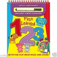 TINY TOTS FIRST LEARNING 1 2 3 - ABC - TIMES TABLES - COLLECTION 3 BOOKS SET
