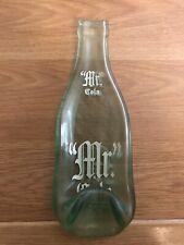 Vintage Handmade Mr Cola Glass Bottle Spoon Rest 12 Oz Heavy Glass