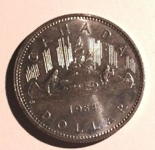 WOW!!! 1984 Voyageur Canada Nickel One Dollar Canadian $1 Circulated Voyager
