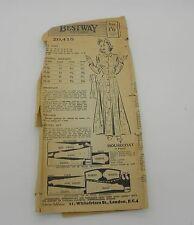 "Vintage 1940's Dress Pattern Bestway Womens Housecoat Dressing Gown 32"" Bust"