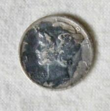 USA: 1937 silver Mercury Dime 10 Cents, Philadelphia mint; VG