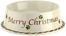 "Spode Christmas Tree Pet Dog / Cat Bowl 7"" NIB"
