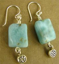 LARIMAR E Silver orecchini pendenti. BELLA e argento sterling. Handmade Designer.