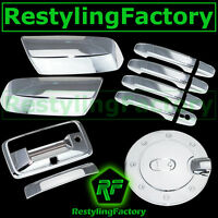 14-15 Chevy Silverado 1500 Chrome Mirror+4 Door Handle+Tailgate+Camera+Gas Cover