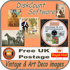14,500+ VINTAGE & DECO SCRAPBOOKING CLIPART IMAGES all printable on DVD