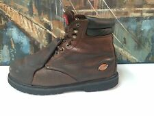 Dickies Mens Brown Leather Steel Toe Met-Guard Work Boots  11.5W