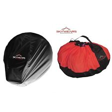 PARAGLIDING QUICK BAG ,PARAMOTOR QUICK BAG BLACK/RED AND PARAMOTOR DUST COVER
