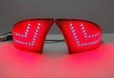 Bumper Reflector LED Signal Brake Light for Lexus IS250 IS350 2014+ IS Red Lens
