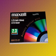 "Maxell MA172-S1, 5,25"" MO Disk 2,3 GB, Data Cartridge, NEU & OVP"
