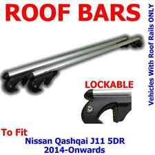 Nissan Qashqai (J11) 5 Door 14> Aluminium Locking Aero Roof Bars