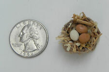 Miniature Dollhouse Egg Basket Nativity Village Market Accessory Handmade
