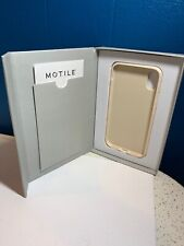 (iPhone X / XS) Vegan Leather Phone Case in Bone White - Wireless Charging Shock