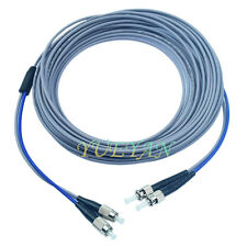 300M FC-ST UPC Armored Fiber Cable Multi-Mode Duplex Fiber Patch Cord  Pigtail