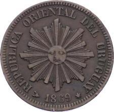 O2063 URUGUAY 2 centesimos 1869 H Birmingham ->Make offer