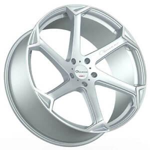 "(4) 22"" Giovanna Wheels Dalar-X Gloss Silver/Machined Face Rims(B45)"