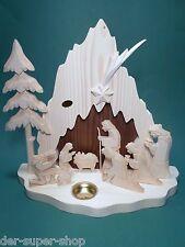 Nascita di Cristo con mangiatoia in legno 2 LEGNO COLORATA 30 cm LAVORO MANUALE scolpito NUOVO