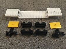LEGO Train Complete Car w/ Buffers Wheels and Magnets 9V Electric White