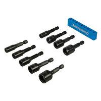 9pc Metric 5-12mm Magnetic Nut Driver Socket Bit Set 1/4'' Hex Drive Power Drill