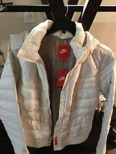 WOMENS NIKE WHITE DOWN JACKET, DETACHABLE HOODIE, XXL, NWT!!!