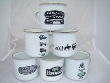Land Rover Defender 90 Retro Enamel Mugs, Vintage Land Rover 90 Set of 6 Mugs